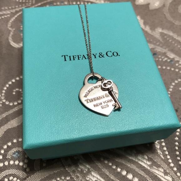 ea25605ac374 Tiffany Heart Tag with Key Pendant. M 5b0368c13b16081570257b75. Other  Jewelry you may like. Tiffany   Co Platinum Diamond Necklace